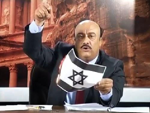 Pengacara TV Jordan bakar Bendera Israel secara langsung