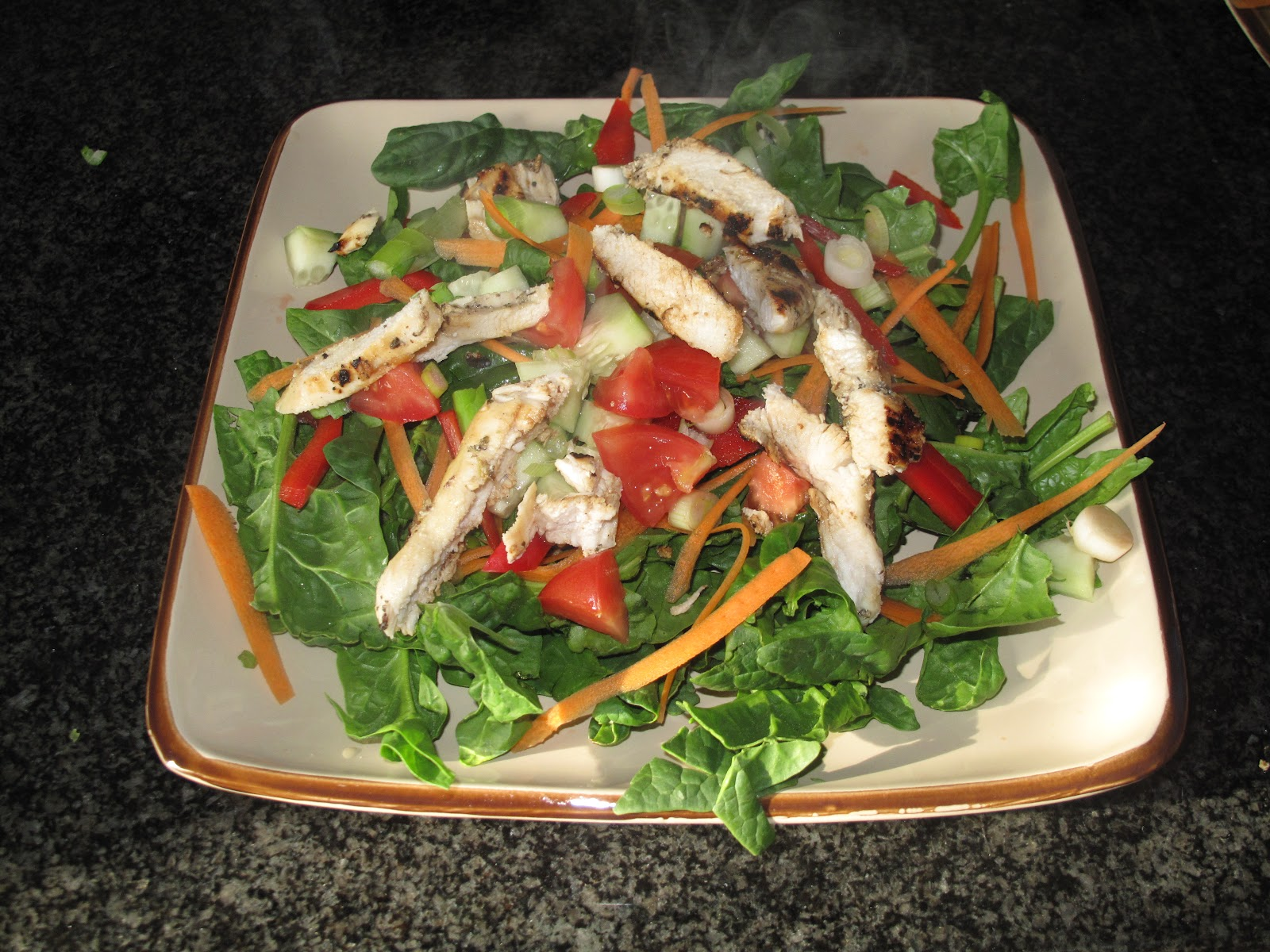 ... : Grilled Chicken & Spinach Salad with Balsamic Vinaigrette Dressing