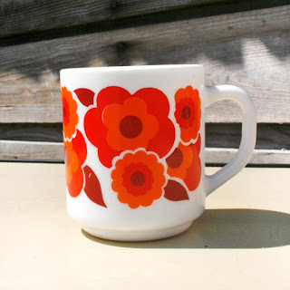 Mug Arcopal série Lotus rouge/orange !