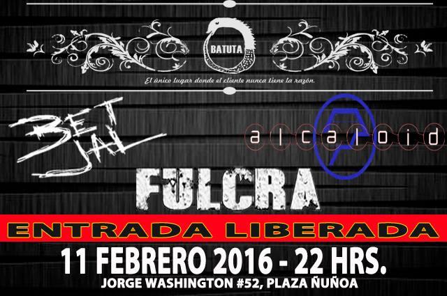 RECITALES EN CHILE: FEBRERO                                             BET JAL + ALCALOID Y FULCRA