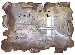 Diploma otorgado a Chonguinada el 25 mayo 2011