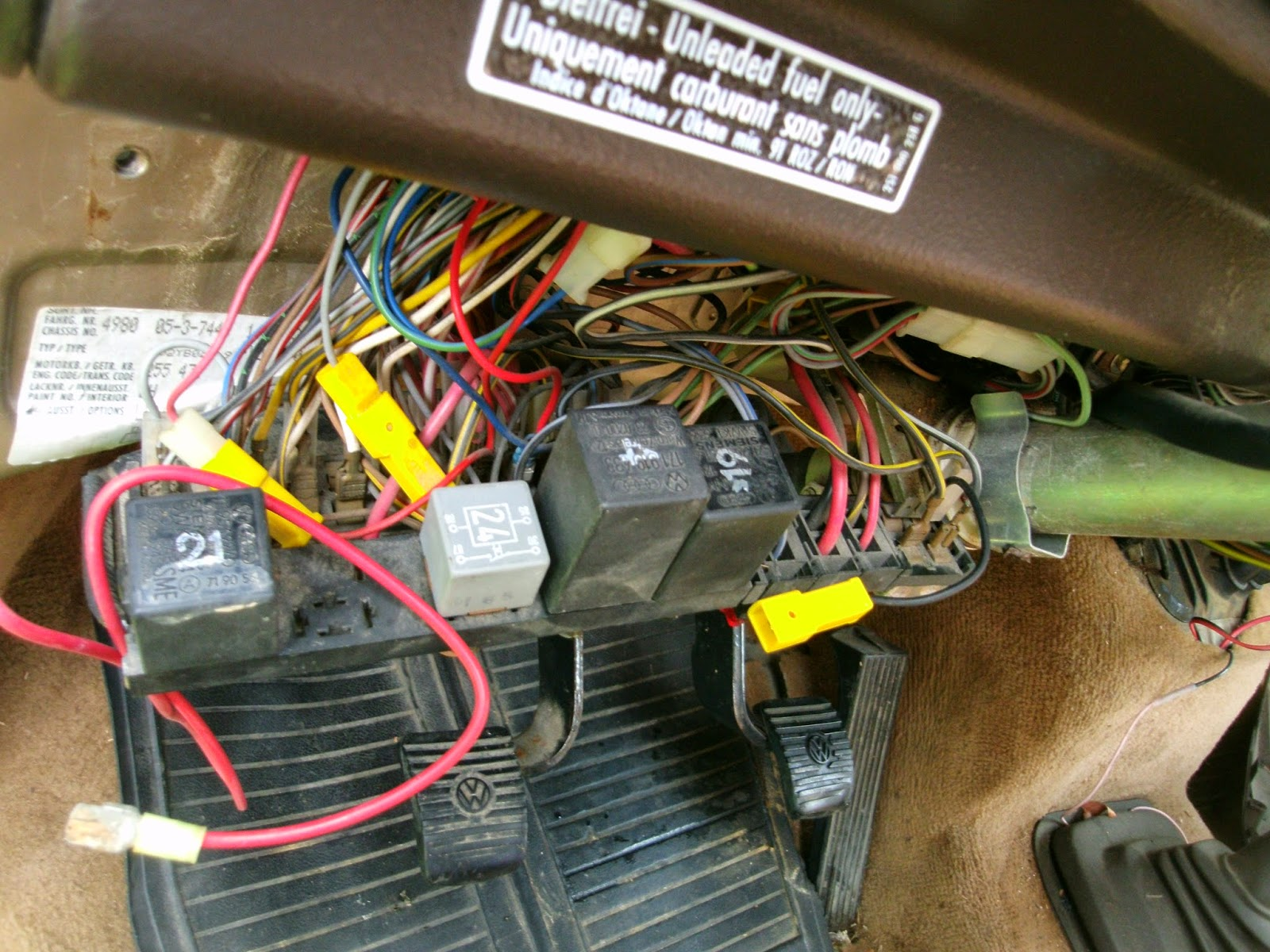 Vanagon Heater Facias Fuse Box Wiring Diagram