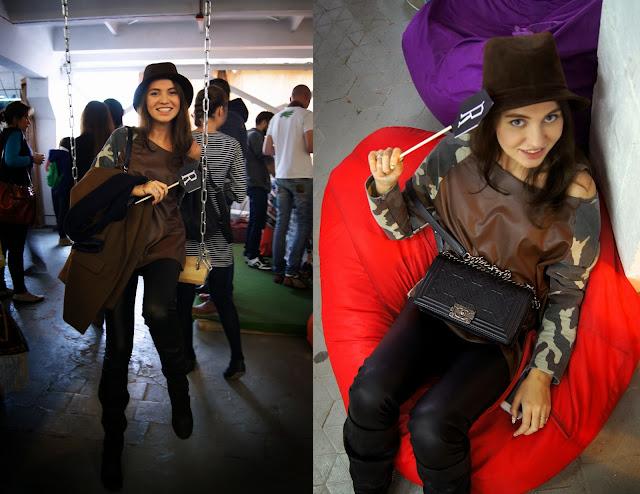 девушка в шляпе с шанель