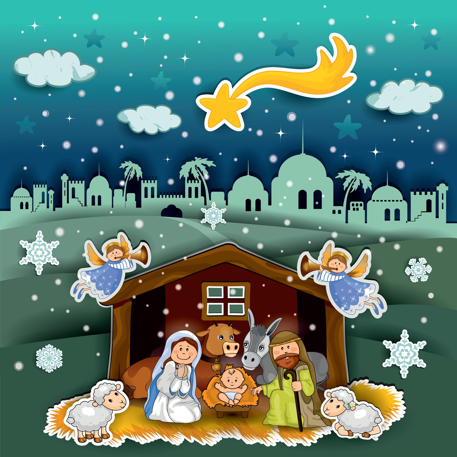 Nacimiento de jesus maria jose navidad navidad pinterest - Dibujos de nacimientos de navidad ...