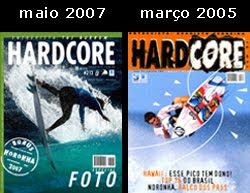 Capas na revista Hardcore