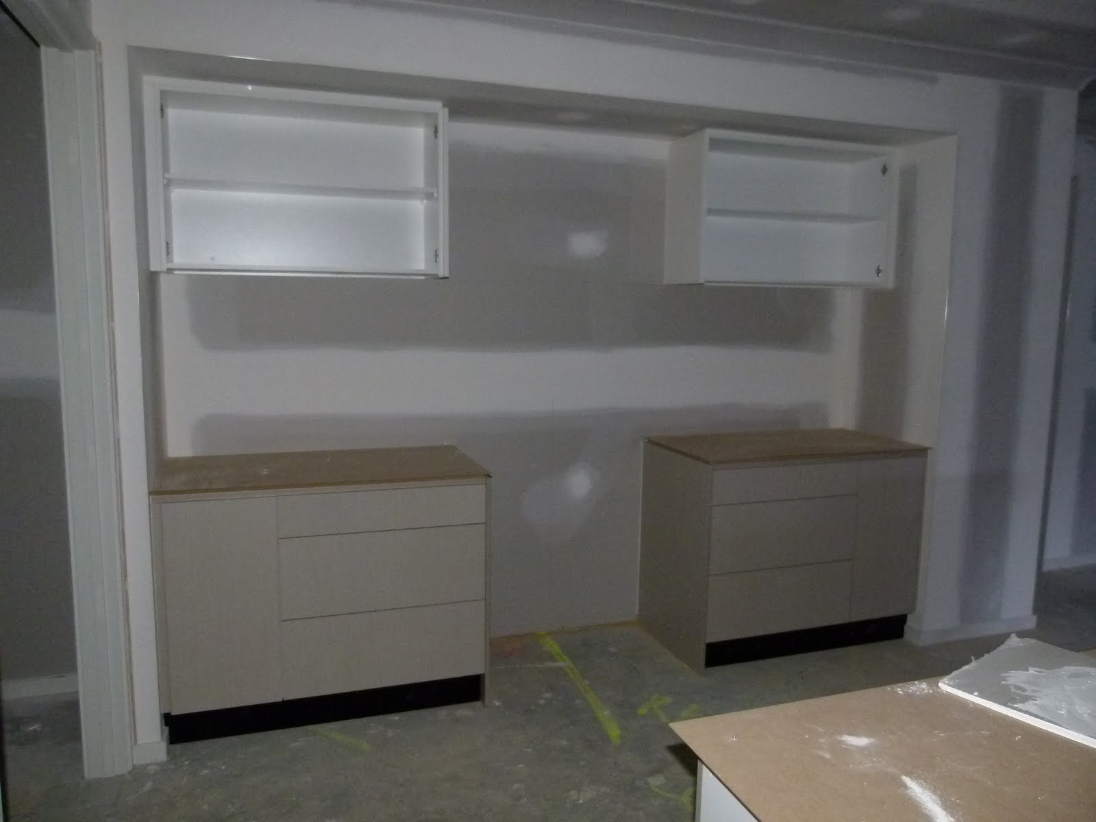 Our New House Cornice And Kitchen Cabinets