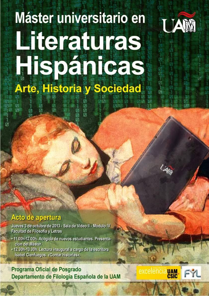 Máster en Literaturas Hispánicas, Universidad Autónoma de Madrid