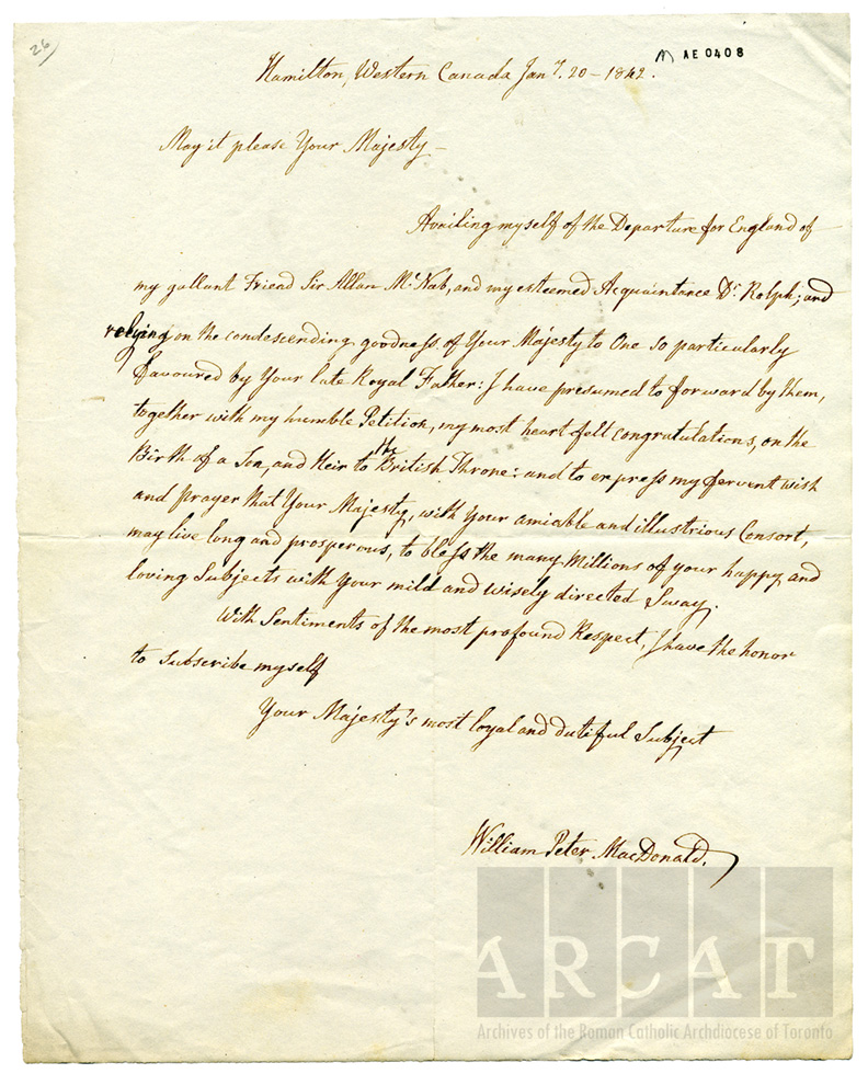 The archivists pencil records of the week queen victoria and the macdonald then pastor of the hamilton parish writes to the queen i have presumed to forwardmy most heartfelt congratulations on the birth of a son thecheapjerseys Image collections