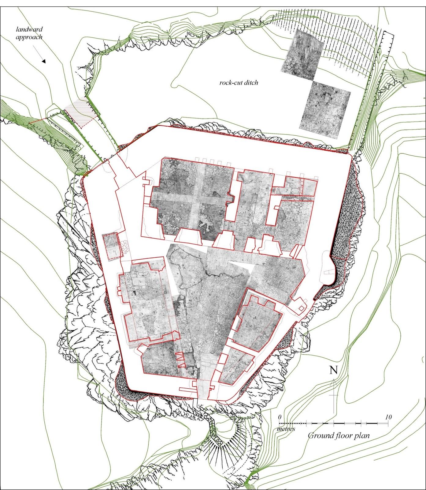 Mingary castle first composite plan of castle for Castle bed plans pdf