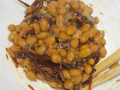 納豆にいかなごのくぎ煮