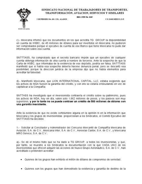 Pol tica ideas mexicana de aviaci n avanza capital ivan Bod solicitud de chequera
