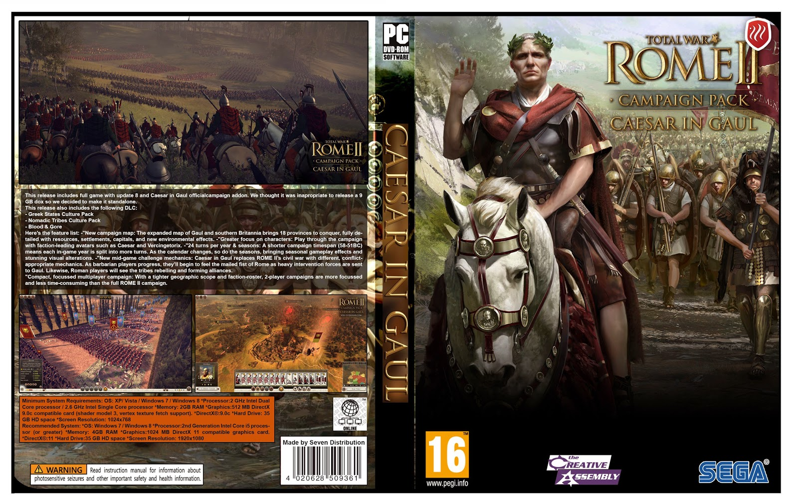 Capa Total War Rome II Campaing Pack Caesar In Gaul PC
