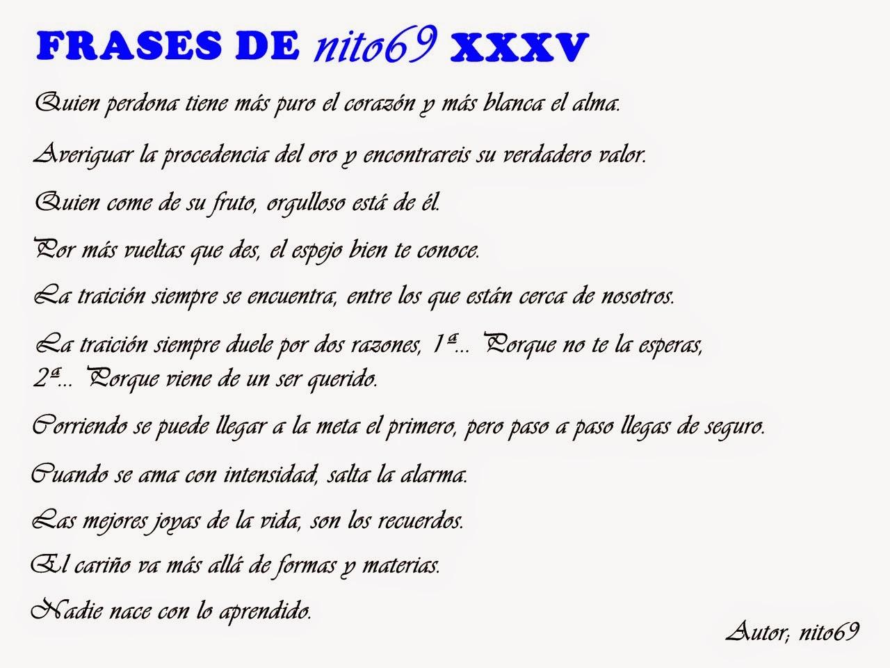 FRASES DE nito69 XXXV