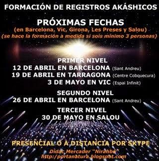 Formación Registros Akáshicos PRESENCIAL: Abril-Mayo 2015