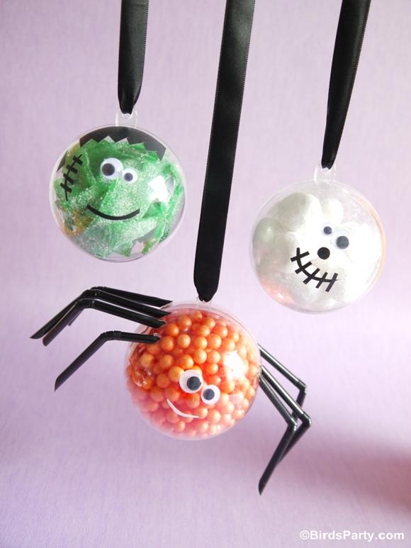 Halloween kids crafts diy little monster candy baubles for Crafts for little kids