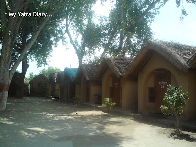 Huts of the resident sages, Raman Reti, Gokul-Mathura,Uttar Pradesh