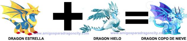 como conseguir el dragon copo de nieve en dragon city combinacion 1