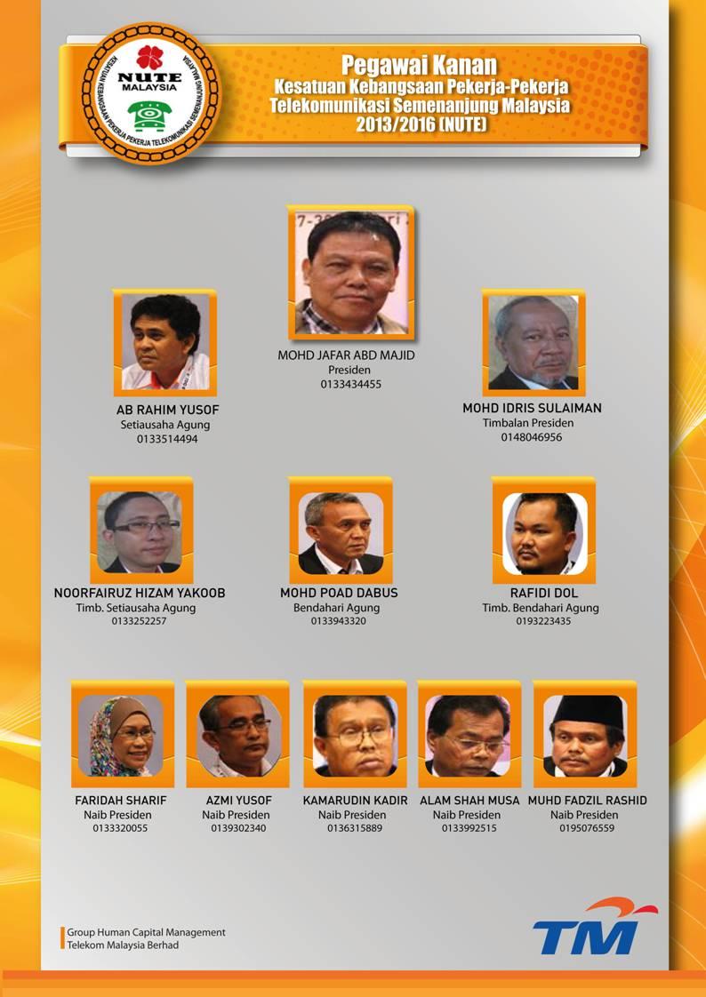 Pegawai Kanan NUTE 2013/2016