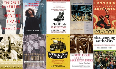 The History of Dissent: A Reading List - covers of the books listed below