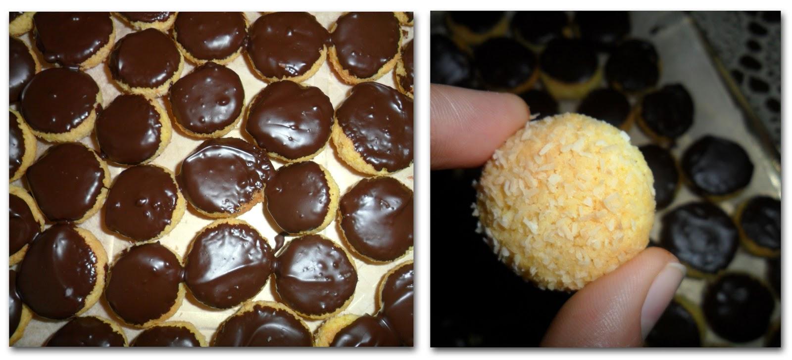 Ricette di cucina dolci pane lievitato dolcetti al - Bagno di cioccolato ...