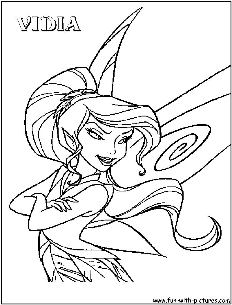 silver mist tinkerbell coloring pages - photo#28