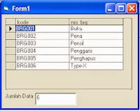 FAQ : Menghitung Jumlah Record Di Database Dengan Visual Basic 6.0