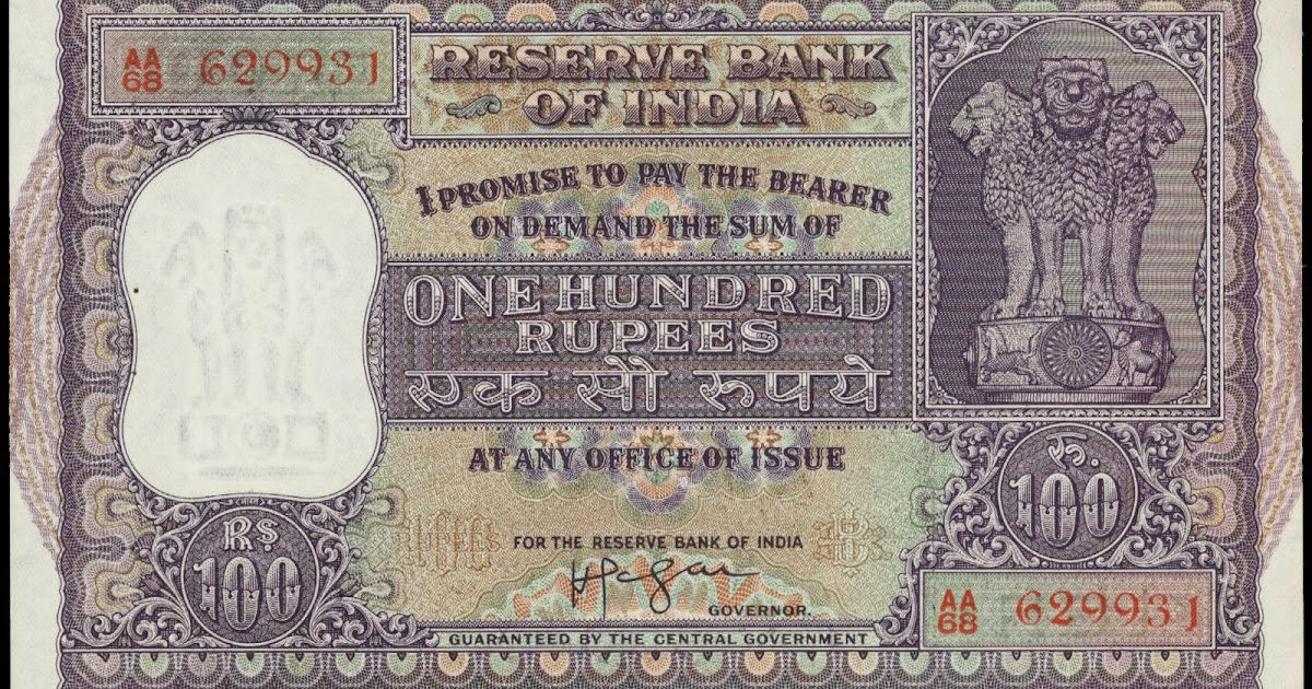 India 100 Rupee banknote 1957|World Banknotes & Coins Pictures | Old Money, Foreign Currency ...