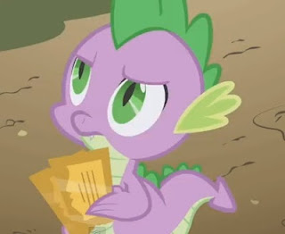 Spike holds two golden tickets