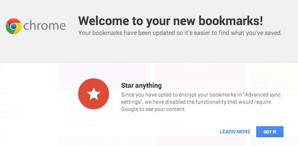 Chrome's New Bookmark Manager