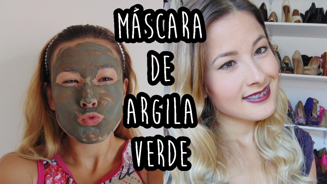 máscara de argila verde Ally Arruda