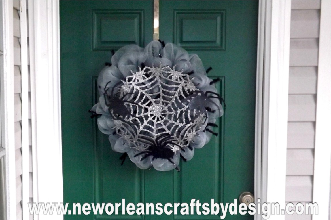 New Orleans Crafts by Design: Halloween Spider Web Gray Deco Mesh ...