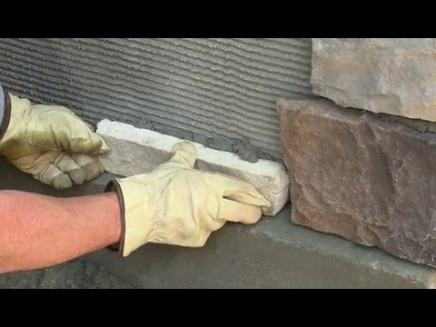 Veneer Stone Mortar Application