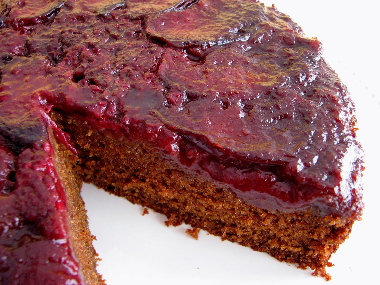 pastry studio: Plum Ginger Upside-Down Cake