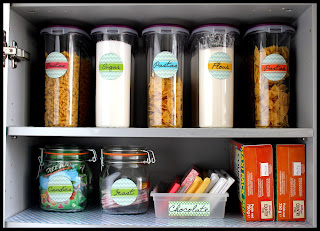 Organizing A Food Storage Cabinet from The Colored Married Life