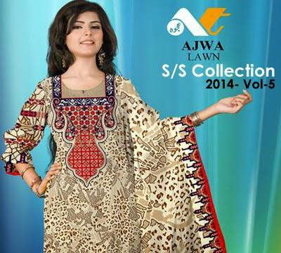 Ajwa Lawn Summer Collection 2014 Vol-5