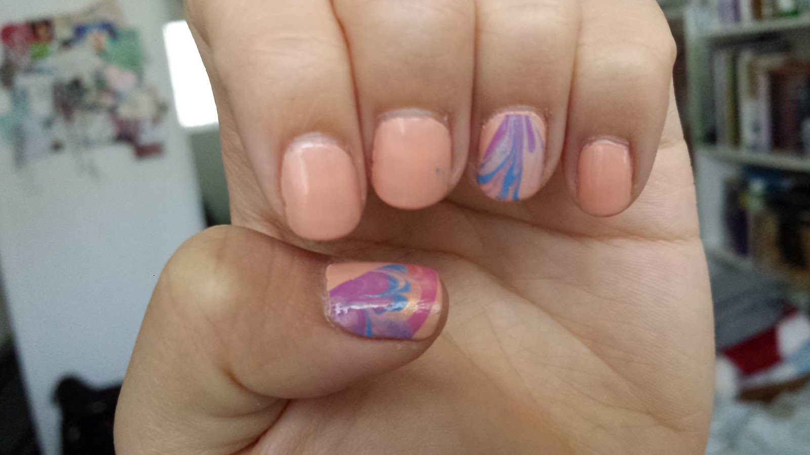 Laugh Love Live Dance: DIY Marbled Nail Art Stickers