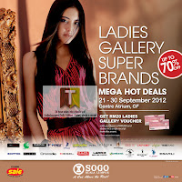 Sogo KL Ladies Gallery Super Brands Mega Hot Deals