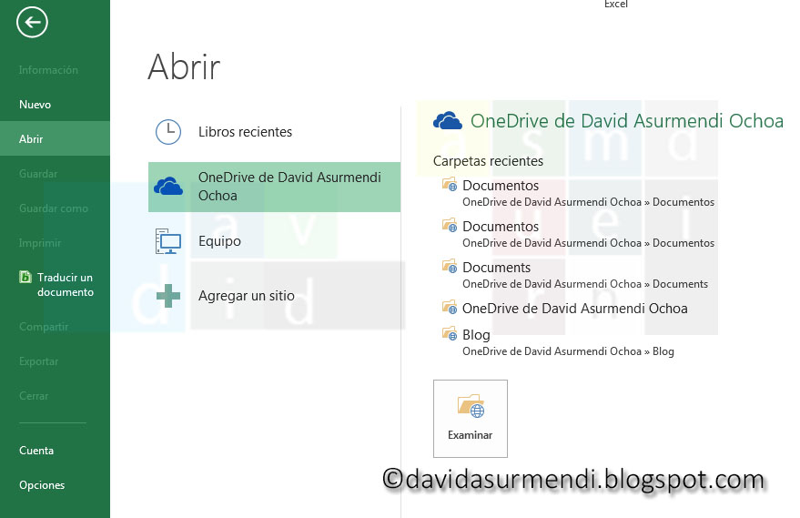 Acceder a documentos de OneDrive.