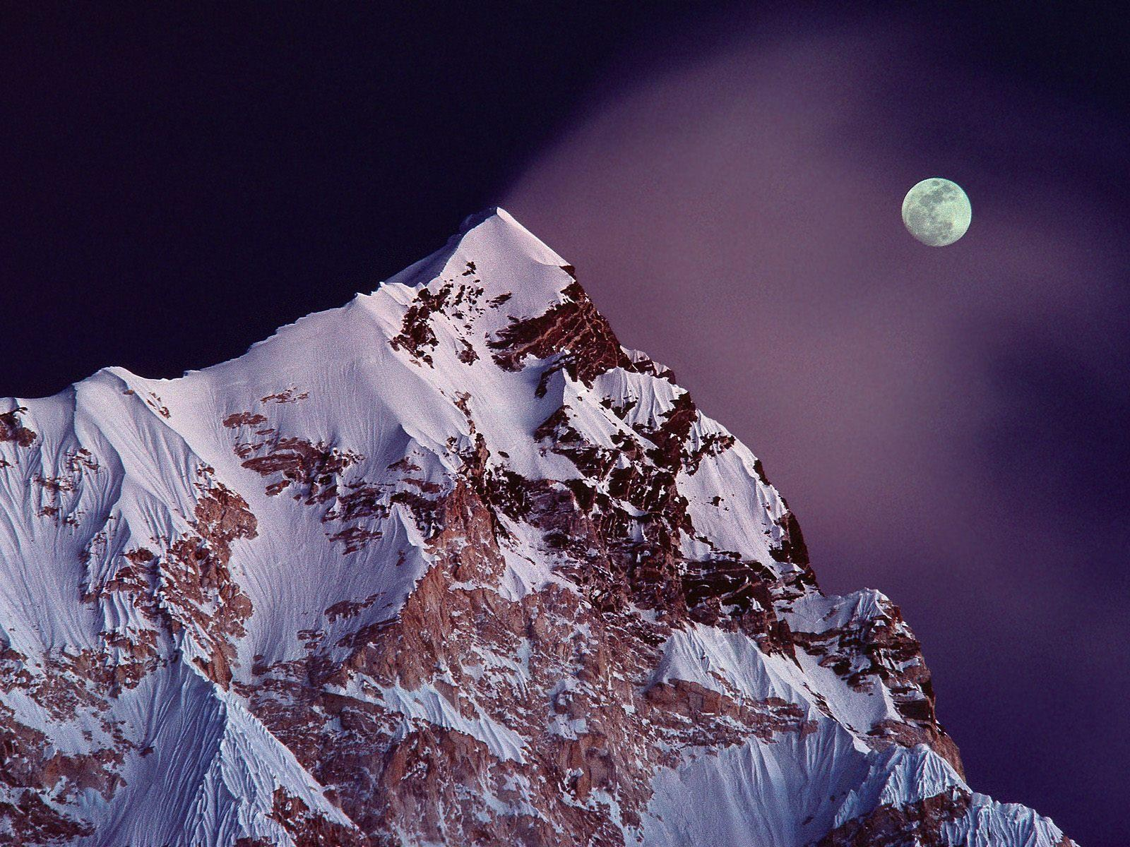 Ice Snowy Rocks Mountains HD Background Wallpapers Widescreen High Resolutions 004