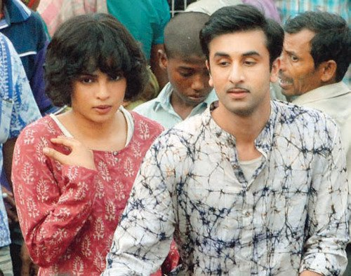 Ranbir Kapoor and Priyanka Chopra on the sets of Barfee - Movie Photos gallery
