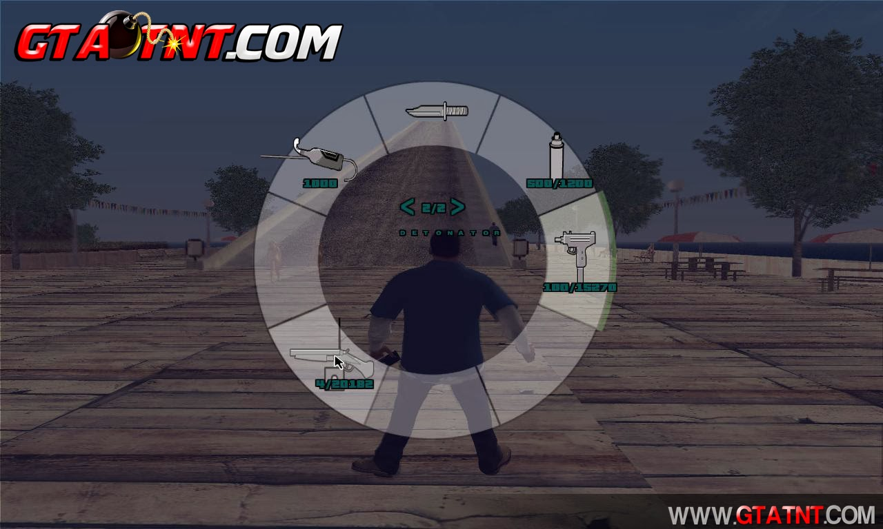 GTA SA - Weapon Scrolling (Menu de Armas do GTA V) BETA