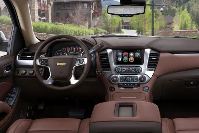 All New Chevrolet Suburban 2015 interior dashboard