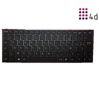 4d - Sony-Yb Wireless Laptop Keyboard (Black) Price: Rs. 2,099