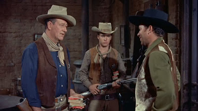 Rio Bravo (1959), Directed by Howard Hawks, starring John Wayne