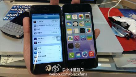 Un confronto frontale tra i due iPhone 5 e 5S dalla cina