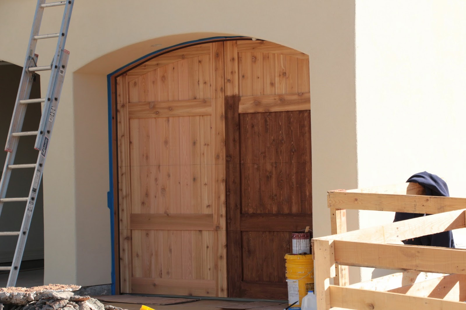 cedar garage doors, carriage garage doors