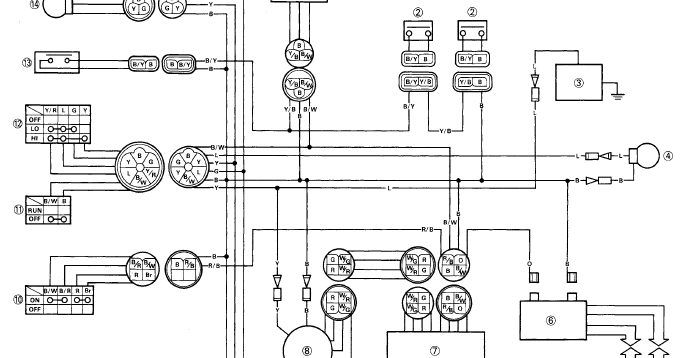 electrical wiring diagram yamaha scorpio sx-4