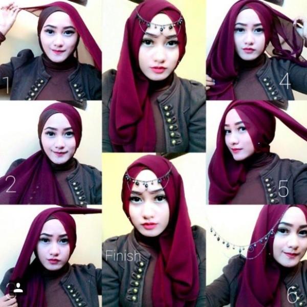 10 Tutorial Hijab Pesta Simpel Tapi Elegan 2017