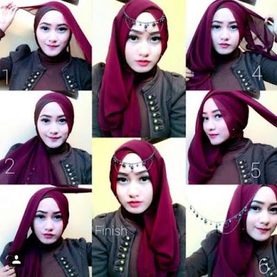 Tutorial Hijab Pesta Sederhana
