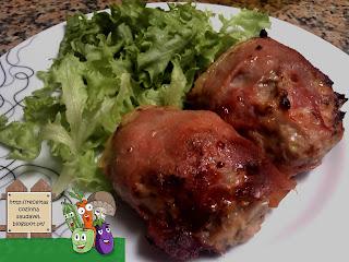Rolinhos de Carne com Presunto